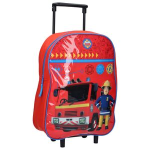 Brandweerman Sam Trolley Koffer Feuerwehrmann Sam Kindertrolley - Feuerwehrauto - Rot