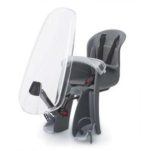 Polisport fahrradsattel für Bilby junior mit Windschutzscheibe schwarz/grau