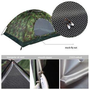 UV40+ Camouflage Campingzelt Trekkingzelt Zelt Outdoor Wandern Wasserdicht für 2 Personen