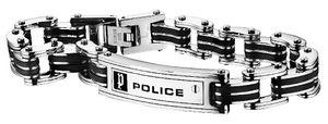 Police Edelstahl Armband PJ24919BSB.01-S 20 cm Carb Herren