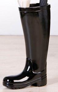 Casablanca Schirmständer Stiefel Keramik schwarz 86766