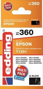 EDDING Doppelpack 2 Epson T1291 black - reman