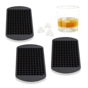 relaxdays 3x Eiswürfelform Silikon 1cm Silikonform Bereiter Eiswürfelbox Eiswürfelbehälter