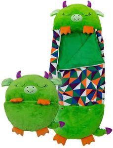 Happy Nappers Großes Spielkissen und Schlafsack, Fun One Piece Kinderpyjamas Schlafsäcke, für Kinder Überraschung (grün)