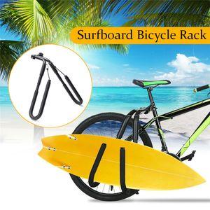 Surfbrett Fahrraeder Traeger Gepaecktraeger Fahrrad Skimboard New Side Kiteboard Holder Aluminium + Weichschaum gepolstert【Schwarz】Geeignet für die meisten Fahrräder