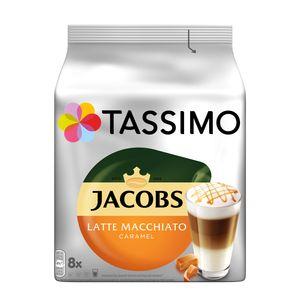 Tassimo Kapseln Jacobs Typ Latte Macchiato Caramel | 8 Kaffeekapseln