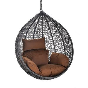 Hängesessel  (Set, Korb und Kissen),inklusive Sitz-, Seiten- und Rückenkissen,braun,Belastbarkeit maximal 120 kg