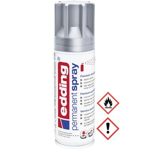 Edding Permanent Spray Premium Acryllack in silber matt 200ml