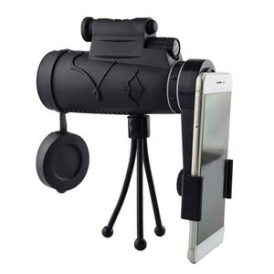 Monokular Teleskop, 12X50 HD Monokular für Vogelbeobachtung mit Smartphone Halter Und Stativfokus für Vogelbeobachtung, Camping, Wandern