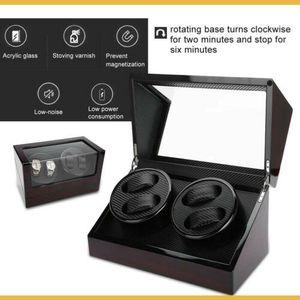 Automatischer Uhrenbeweger Aufbewahrungsbox Vitrine Box Watchwinder Für 4+0 Uhr