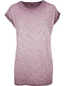 Damen Spray Dye Extended Shoulder Tee - Farbe: Burgundy - Größe: XL