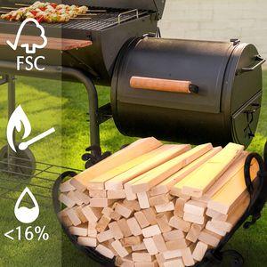 Anzündholz Premium Anfeuerholz mit Kamin Anzünder Feuerholz Brennholz 14,5 kg