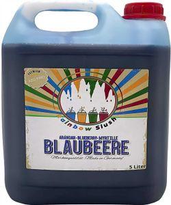 Rainbow Slush Sirup AZO FREI | Geschmack Blaubeere | Konzentrat für Slushy Maker Eis Slushmaschinen Eismaschinen Getränke 1:5