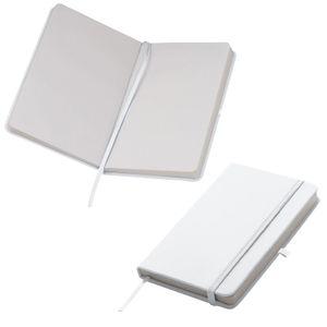 Notizbuch / DIN A6 / 160 S. / blanko / samtweiches PolyurethanHardcover / Farbe: weiß