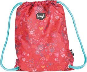 Baagl Turnbeutel für Mädchen -  Schuhbeutel für Kinder - Schule und Kindergarten Sportbeutel - Sportrucksack (Love)