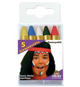 Fri -5 Schminkstifte Schminke Karneval Fasching Halloween