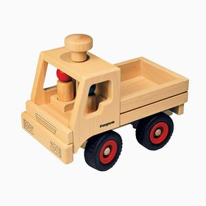 Fagus Unimog, Holz, Holz, Junge/Mädchen, 4 Rad/Räder, Schwarz, Rot, 250 mm