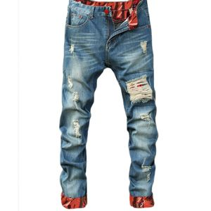 Herrenhose Lässige, gerade, mittelhohe, schmal geschnittene Jeans mit schmaler Passform Größe:L,Farbe:Rot
