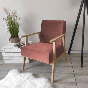 Mirjan24 Sessel Runoya, Wohnzimmersessel vom Hersteller, Vintage Relaxsessel, Polstersessel (Farbe: Magic Velvet 2258)