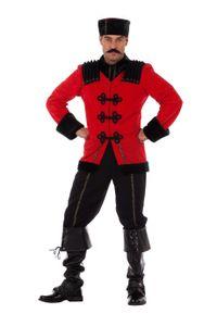 Wilbers & Wilbers Kosakenkostüm Kosake Russe Kostüm Ivan Russen Zar Russenkostüm Herren Karneval Rot/Schwarz L/XL