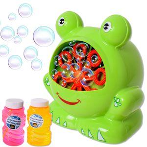 Seifenblasenmaschine Bubble Machine Frosch Hochzeit Kinder DJ Party Nachfüller