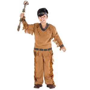 dressforfun Jungenkostüm Indianer einsamer Wolf - 116 (5-7 Jahre)