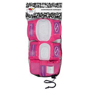 SMJ Sport Kinder Mädchen Schutzausrüstung Inlineskates Protektoren Schützer Schonerset - ROSA