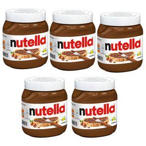 Nutella Haselnuss Nougat Creme nussig schokoladig 450g 5er Pack