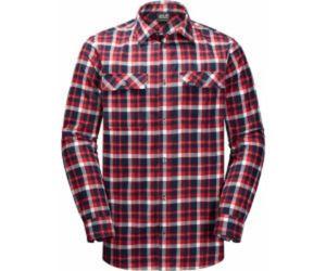 Jack Wolfskin Bow Valley Shirt Men Größe: L Farbe: red blue