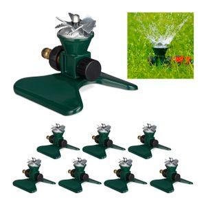 relaxdays 8 x Rasensprenger Garten, Sprenkler, Sprinkler Bewässerung, Gartensprenger Boden