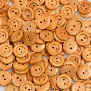 10 Holzknöpfe, 2-loch, rund, verschiedene Größen, Brauntöne, Größe:17.8mm, Variante:Variante 1
