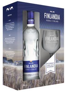 Finlandia Vodka of Finland + 1 Ritzenhoff Copa Glas Geschenkset | 40 % vol | 0,7 l