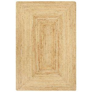 vidaXL Teppich Handgefertigt Jute Natur 80x160 cm