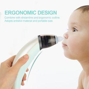 Elektrischer Nasensauger für Babys USB Wiederaufladbarer- Nasensauger Aspirator,5 Saugstufen mit 2 Größen Silikon Tipps Tragbar Nasensauger