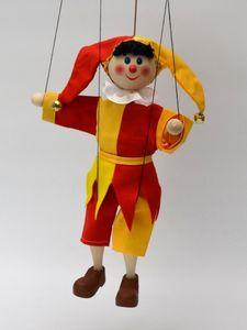 Dekorationsartikel Marionette Narr 30cm gelb