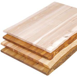 LAMO Manufaktur Tischplatte Baumkante für Schreibtisch, Esstisch, 120x80 cm, Esche Roh, LHB-01-A-001-120