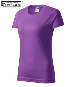 T-Shirt Lila XL Damenshirt Furtwängler Classic 145g/m² verstärkte Schulterpartie Baumwolle