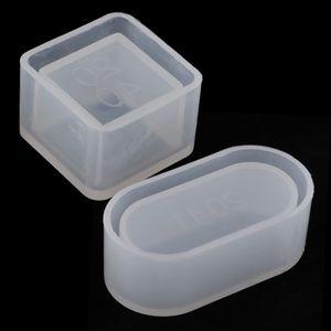 2 Stücke Quadrat Rechteck Formen Flüssigen Silikonform DIY Harz Schmuck Anhänger Form Epoxidharz Gießformen Schmuck Machen Werkzeuge