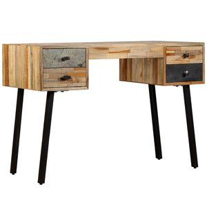 Schreibtisch Bürotisch Computertisch | Arbeitstisch PC Tisch Vintage Wiederverwertetes Teak Massivholz 110 × 50 × 76 cm | 1221