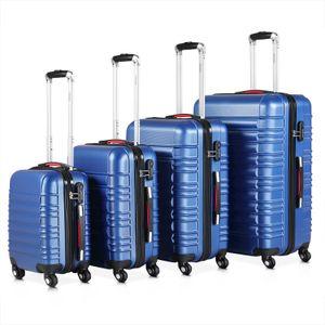 Hartschalenkoffer Kofferset Trolley 4 Rollen Reise Koffer Set S M L XL Hard Case, Farbe:silber