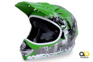Kinder Cross Helm X-TREME Kinderhelm Motorradhelm Quadhelm Crosshelm grün (M)