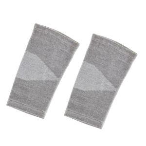 1 Paar Bambusgewebe Kniekompression Ärmel Elastische Kniebandage Hosenträger L Grau