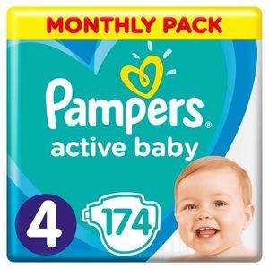 PAMPERS Windel Active Baby 4 Maxi 174 Stück