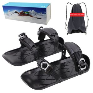 Skifahren im Freien Mini Sled Snowboard Skischuhe Skischuhe Kombinieren Sie Skates mit Skiern Schnee Ski liefert Schlitten
