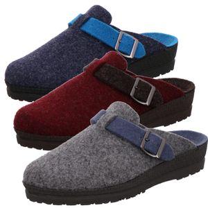 Rohde Damen Pantoffeln Hausschuhe Filz Neustadt-D 2284, Größe:43 EU, Farbe:Blau