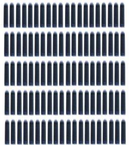100 Füllerpatronen / Tintenpatronen / Farbe: blau