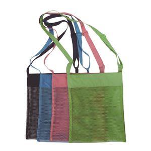 Beach Mesh Einkaufstasche Sandspielzeug Sea Shell Bag für Erwachsene Teens Kids (Schwarz)