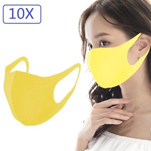 10PCS auf staubdichter Schwammmaske wiederverwendbar 1mm atmungsaktiv【 gelb】