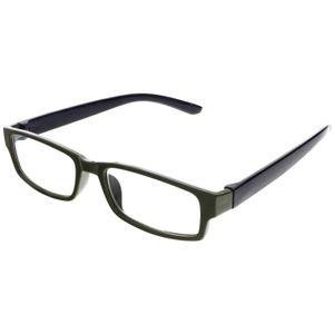 Unisex Lesebrille mit Stärke + 4,0 Dioptrien Lesehilfe Sehhilfe Kunststoff sehr robust für Damen und Herren in Grün