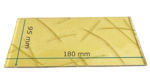 Ersatzglas für Grablaterne | Grablicht - Gussantik Gelb - nach Wunschmaß -  180 mm x 95 mm